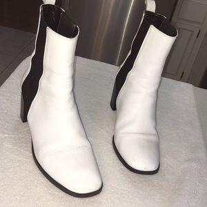ZARA White Heeled Booties- runs small!